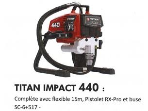 Pompe HP Titan 440 IMPACT (garantie 36 mois)