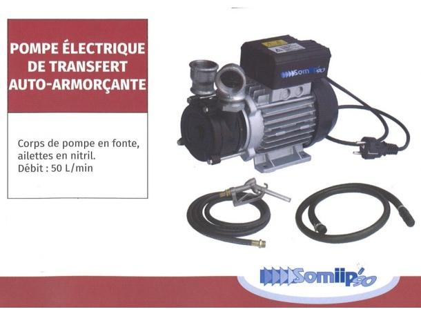 POMPE ELECTRIQUE DE TRANSFERT AUTO-ARMORCANTE